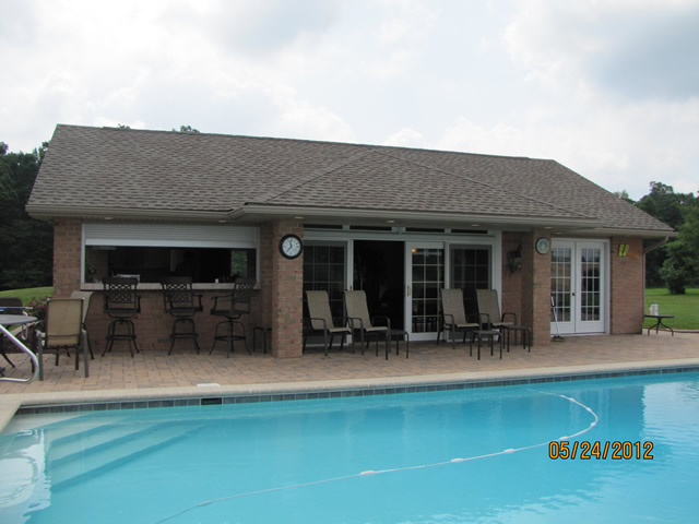 Pool summer houses littlestown pa for Detached garage pool house